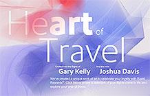 美国西南航空创意网站 旅行数据变绘画作品