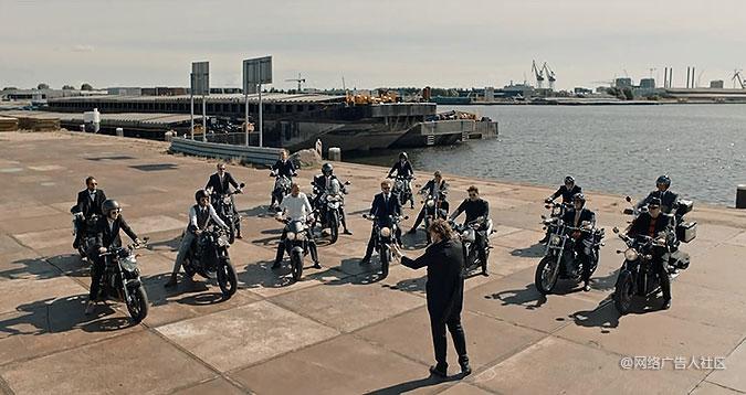 绅士骑行公益组织宣传活动 摩托车交响乐