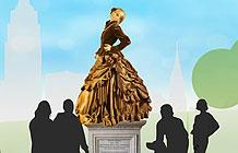 学生创意 女性平等日平等雕像