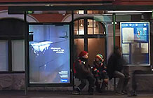 芬兰公交站公益广告 痕迹