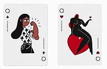 英国公益组织三八妇女节创意 扑克牌