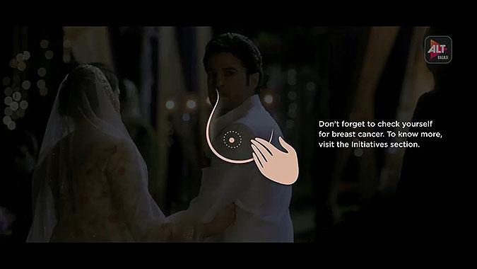 印度视频网站Altbalaji乳腺癌公益活动 缓存广告