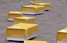 瑞典邮局广告 一群盒子在路上跑跑