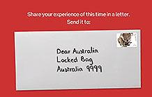 澳大利亚邮局疫情公益活动 国家信箱