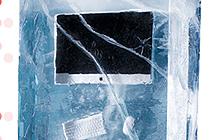 挪威家居卖场LEFDAL开业促销 冰里的促销卷