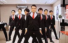 日本天梭表营销活动 机械舞大叔强势回归