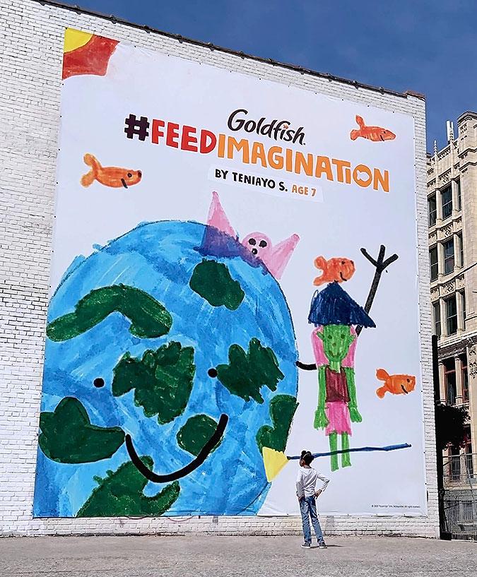 加拿大饼干品牌Goldfish营销活动  喂养想象力