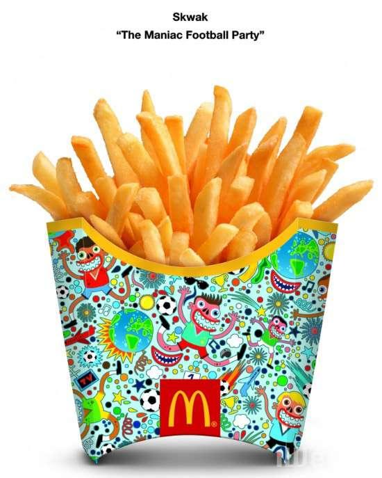 麦当劳世界杯AR技术 踢球游戏图片