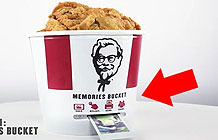 KFC在全家桶上安装了一打印机