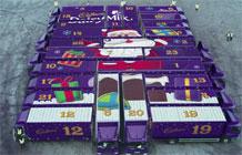 吉百利圣诞节营销活动 24辆大卡车每天免费送巧克力