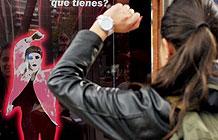 哥伦比亚KitKat户外装置 跳舞拿巧克力棒