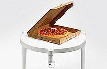 香港宜家必胜客异业合作 披萨桌
