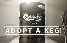 丹麦嘉士伯疫情创意活动 领养一只小酒桶