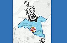 巴拉圭汉堡王疫情创意活动 送货范围涂鸦