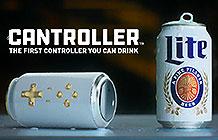 Miller啤酒创意活动 啤酒罐游戏手柄