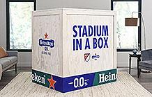 喜力啤酒美国足球赛创意营销 家里的球场椅