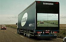 三星阿根廷创意公益项目 大卡车显示器