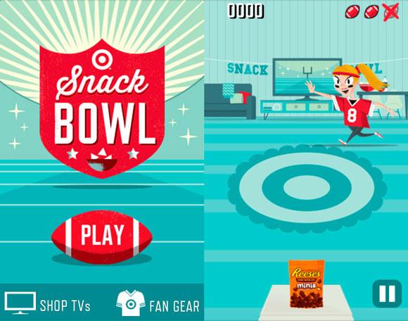 Target百货公司超级碗手机Html5游戏