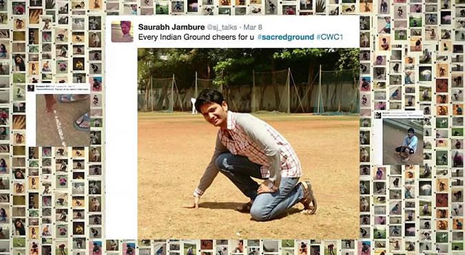 印度阿迪达斯板球世界杯营销活动 触地支持