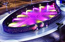 马尼拉NIKE营销活动 巨大脚印形跑道馆