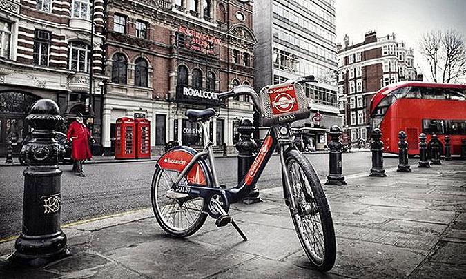 有了广告,英国伦敦的自行车都免费了
