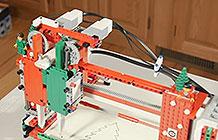 乐高玩具圣诞节创意贺卡 用乐高造一台打印机