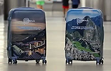 秘鲁旅游局创意活动 景点旅行箱