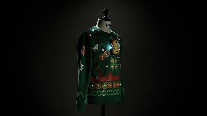 瑞典711圣诞节宣传活动 智能打折毛衣