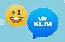 荷兰KLM航空Facebook Messenger营销活动 表情查询服务