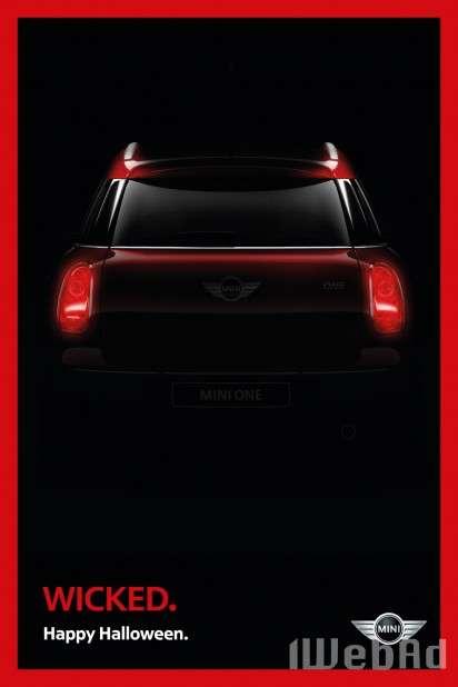 mini汽车万圣节广告