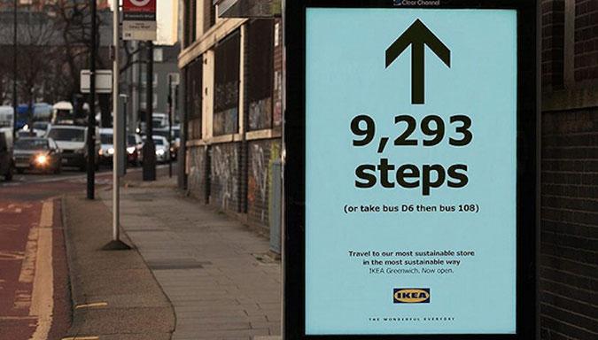 """""""还有9293步就到"""",这样的指路广告牌让你想去宜家吗?"""