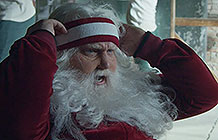 奥迪汽车2018圣诞节广告 健身的圣诞老人
