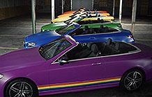 加拿大奔驰汽车LGBT公益活动 彩虹旗颜色
