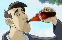 可口可乐动画广告 男人与狗