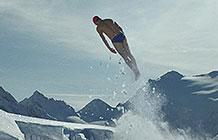 英国Coors Ligt啤酒广告 雪山游泳