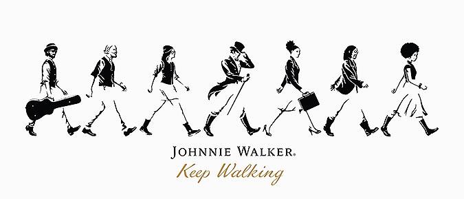 Johnnie Walker创意广告 要走一起走