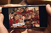 法国UberX可口可乐2018圣诞活动 给你送家人准备的美食