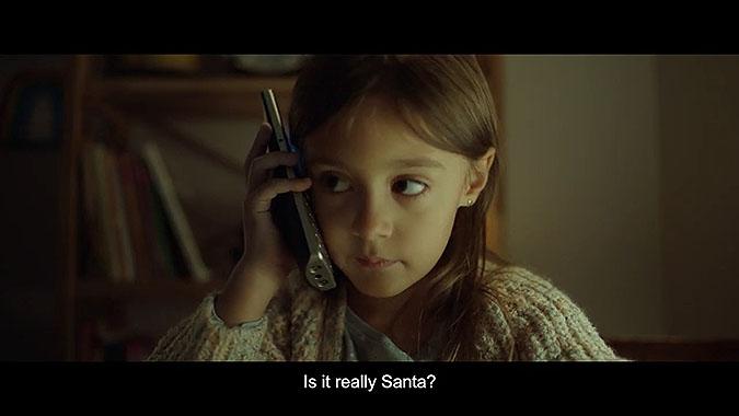 法国电信Bouygues2019圣诞节广告 圣诞老人电话