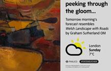 英国Exterion Media与泰特美术馆合作 天气提醒