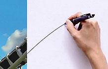 日本百乐笔广告 线条之美