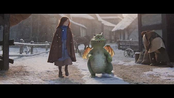 英国超商2019圣诞节广告 喷火龙埃德加